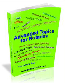 Advanced Topics for Notaries Course 1