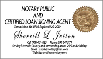 jetton ca notary signing agent business card - Notary Business Cards