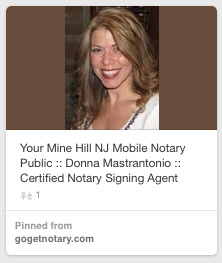 Notary Public Donna Mastrantonio Mine Hill NJ