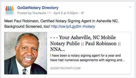 Notary Public Paul Robinson Asheville NC
