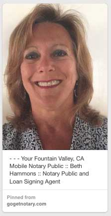 Notary Public Beth Hammons Fountain Valley CA