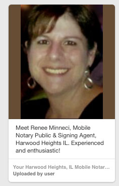 Notary Public Renee Minneci Harwood Heights IL