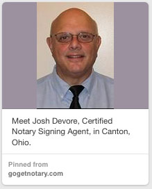 Notary Public Josh Devore North Cantor OH
