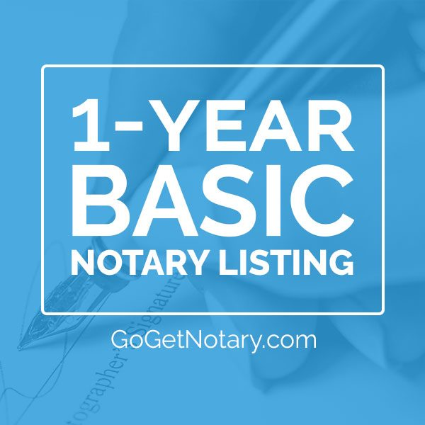 1 year basic notary profile