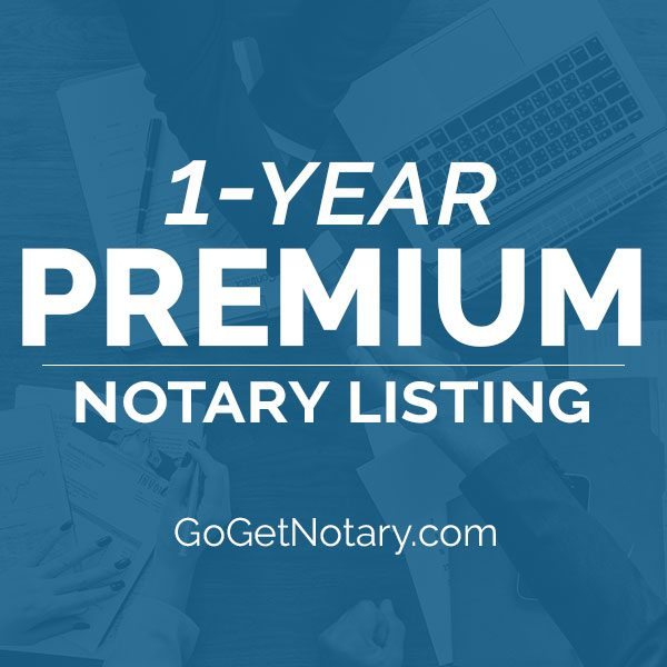 1 year premium notary profile