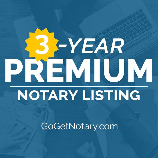 3 year premium notary profile listing