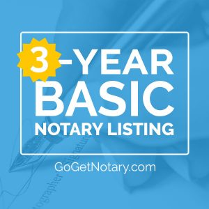 3 year basic notary profile